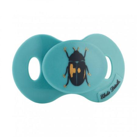 Afbeelding van Blauwe Elodie Details mini fopspeen 0-3m - Tiny Beetle