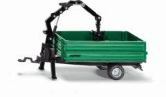 Groene SIKU 2896 Oehler kombiwagen met Kraan