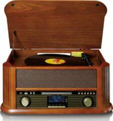 Classic Phono TCD-2570WD - Platenspeler met DAB+/FM radio, USB encoding, CD- en casettespeler - Hout