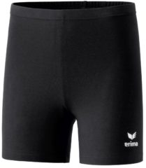 Erima Verona Tight Short Dames - Zwart / Wit | Maat: 38