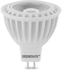 Groenovatie LED Spot GU5.3 / MR16 Fitting - 5W - COB - 53x50 mm - Dimbaar - Warm Wit