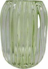 Merkloos / Sans marque Theelichthouder - Transparant / Groen - Glas - Ø13 x h7 cm