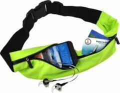 #DoYourFitness - Loopriem - »FunRunner« - heuptas / ritszak voor hardlopen ,elastisch, waterdicht - mobiele telefoon tot ca. 5,5 inch - groen