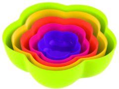 Zak designs Zak!Designs Sweety Bloemschaaltje - Rainbow - Set van 5 stuks