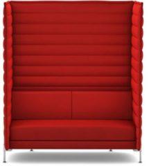 Vitra Alcove Xtra Highback 2-Sitzer Sofa - Credo red chilli