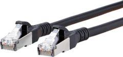 Metz Connect 1308455000-E RJ45 Netwerk Aansluitkabel CAT 6A S/FTP 5.00 m Zwart Snagless