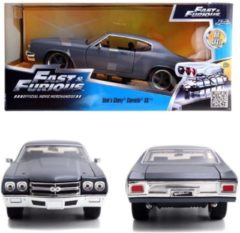 Greenlight Collectibles Dom's Chevrolet Chevelle SS Fast and Furious mat grijs 1:24 Jada Toys