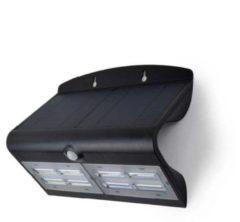 Zwarte O'DADDY O'DADDY capella buitenverlichting – tuinverlichting 800 lumen – wandlamp zonne energie - solar verlichting – bewegingsmelder / sensor met 3 standen – verlichting op zonneenergie / zonne-energie – dag/nacht sensor – hoogwaardig en luxe – led