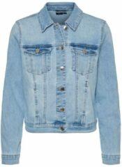 Lichtblauwe Vero Moda Vero Moda Spijkerjas VmFaith LS Slim DNM Jacket Mix GA 10240482
