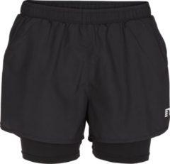 Zwarte Newline Base 2 Layer Shorts 13748-601 - Hardloopbroek - Dames - Black - Maat XS