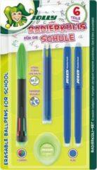 Jolly Uitwisbare 4-kleurige Balpen Set 6-delig
