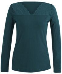 Enna Shirt met kant, smaragdgroen 36