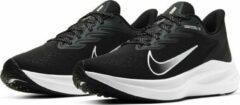 Nike Zoom Winflo 7 hardloopschoenen dames zwart/wit