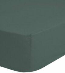 Good Morning Hoeslaken - 100x200 - 100% Katoen - Rondom Elastiek - 25CM Hoekhoogte - Olijf Groen
