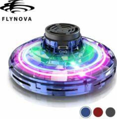 Origineel FlyNova Vliegende Spinner Blauw met LED - Original Flying Fidget Spinner
