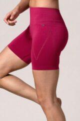 Roze REVIVE Sportswear REVIVE seamless en highwaist dames yoga-sportshort AMARANTE - duurzaam