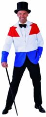 Holland Volwassenenkostuum Nederland, colbert in rood wit blauw maat XXL