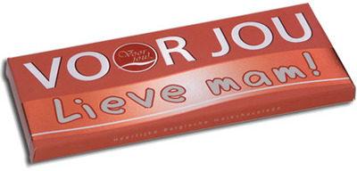 Afbeelding van Voor Jou! Wensreep Melkchocolade Voor Jou! Lieve Mam (70g)