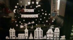 Silhouette Cameo Raamsticker Kerst huisjes statische raamfolie