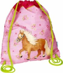 Roze Paarden kinder sporttas trekkoord tas - Die spiegelburg serie my little pony farm