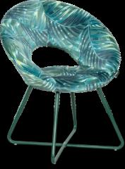 Zwarte Lanterfant Lanterfant® Eetkamerstoel Joop - Fluweel - Designstoel - Botanical