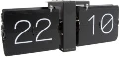 Karlsson Tafelklokken Flip clock No Case matt black stand Zwart