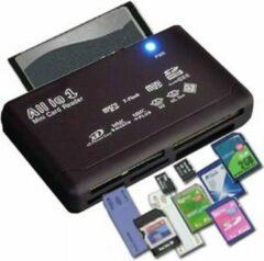 LOUZIR All in One Card Reader - Kaartlezer voor SDHC / SD / Mini / Micro / Externo / XD / CF / M2 / MMC - Zwart