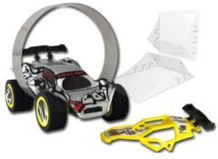 Rode TRIXX 360 Stunt Car set met Stunt Ramp bocht - zwart/rood