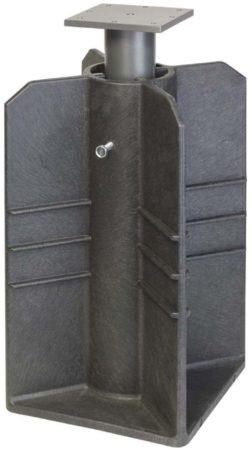 Afbeelding van Antraciet-grijze Platinum Parasolvoet ingraaf grondanker zwart