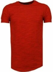 Rode T-shirt Korte Mouw Tony Brend Sleeve Ribbel - T-Shirt