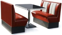2 x Classic Dinerbooth Ruby + Tafel