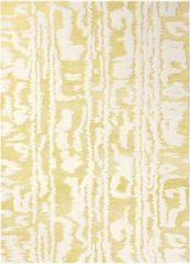 Florence Broadhurst - Waterwave Stripe 39906 Vloerkleed - 120x180 cm - Rechthoekig - Laagpolig Tapijt - Retro - Geel, Wit