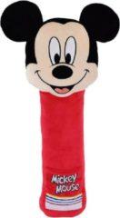 XL pluche Disney Mickey Mouse auto gordelhoes/gordelbeschermer 50 voor kinderen - Gordelkussen - Gordelbeschermhoezen