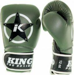 King (kick)bokshandschoenen Vintage 3 Groen/Zwart 10oz