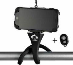 Zwarte Monkeystick SELMONKEYBK Selfie stick Black Bluetooth, incl. mobile phone holder