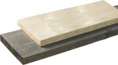 Woodvision Steigerplank | Vuren | 28 x 195 mm | Donkergrijs | 250 cm