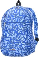 Keith Haring Edition Faltbarer Rucksack 44 cm ultraleicht Samsonite graf blue