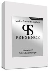 Presence Presence Molton Sanfor Hoeslaken - Platinum - Maat: 80 x 200