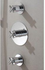 Hotbath Chap thermostaat inbouw met 2 stopkranen C007 geborsteld nikkel C007GN