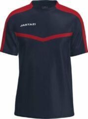 Marineblauwe Jartazi Sportshirt Torino Heren Polyester Navy/rood Maat 3xl