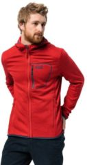 Jack Wolfskin Fleecejacke Männer Skyland Hooded Jacket Men S rot