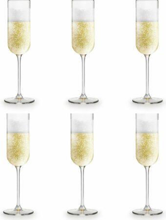 Afbeelding van Transparante Libbey Champagneglas Skava - 21 cl / 210 ml - 6 stuks - rechte vorm – vaatwasserbestendig - hoge kwaliteit