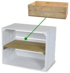 Steigerhoutpassie Fruitkist - Nieuw - Oude Look - Incl. Lade - Set van 2 - Bruin - 50x30x40cm