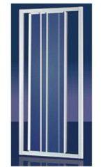 Plieger Economy schuifdeur 3-delig 90x185 cm (afstelbaar van 88 tot 94 cm) aluminium profiel en druppel acrylglas 4283010