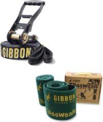 Zwarte Gibbon Slacklines Jibline X13 geïntegreerde rubberen coating Jibline X13 + Treewear
