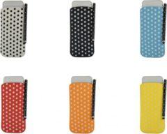 Polka Dot Hoesje voor Oppo Mirror 5 met gratis Polka Dot Stylus, oranje , merk i12Cover