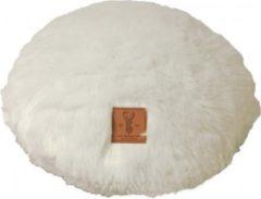 Gebr. de Boon Boony Est 1941 ligkussen rond polar white diameter 45 cm