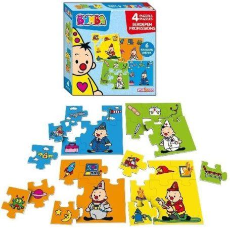 Afbeelding van Studio 100 puzzels Bumba beroepen 4 delig