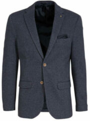 WE Fashion slim fit colbert blauw melange