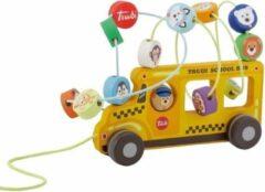 Sevi Kralendoolhof Schoolbus Junior 20 Cm Hout/staal Geel